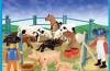 Playmobil - 1-9515-ant - Fermiers avec vaches & cochons