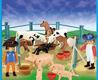 Playmobil - 1-9515-ant - Pigs And Cows On The Farm
