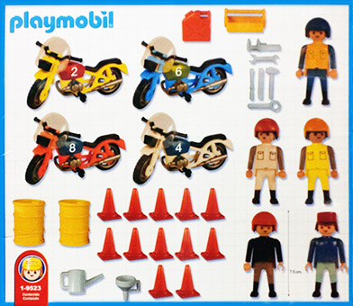 Playmobil 1-9523-ant - motorcycle race - Back