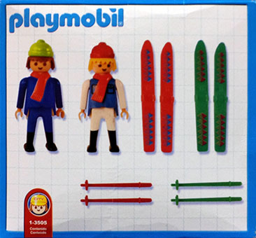 Playmobil 1-3505-ant - 2 skiers - Back