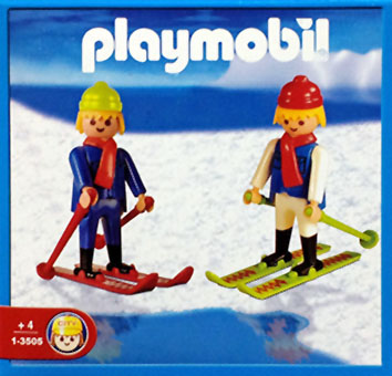 Playmobil 1-3505-ant - 2 Skifahrer - Box