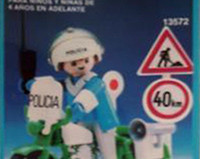 Playmobil - 13572-aur - Policeman with motorcycle