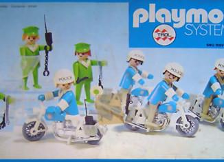 Playmobil - 23.40.1-trol - 7 policemen with motorbikes