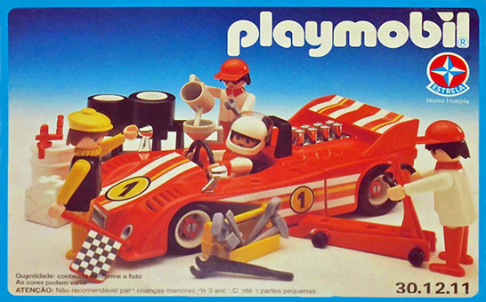 Playmobil 30.12.11-est - car racing team - Box