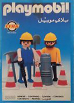 Playmobil 3368-lyr - 2 road workers - Box