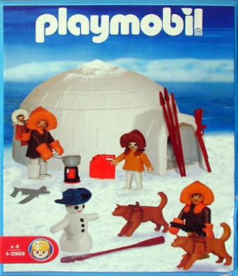 Playmobil 1-3565-ant - family of polar hunters with igloo - Box