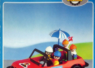 Playmobil - 6001-lyr - convertible car with family