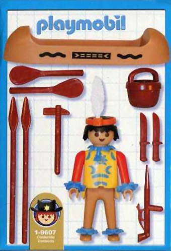 Playmobil 1-9607v1-ant - indian with canoe - Box