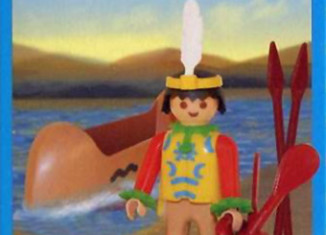 Playmobil - 1-9607v1-ant - indian with canoe