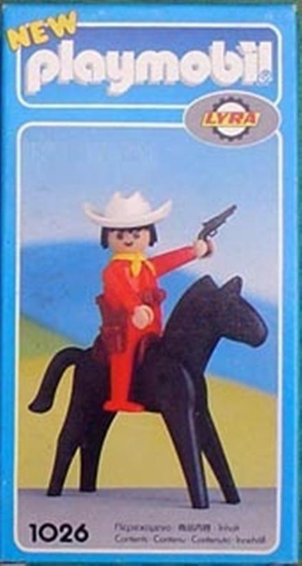 Playmobil 1026-lyr - Cowboy with Horse - Box