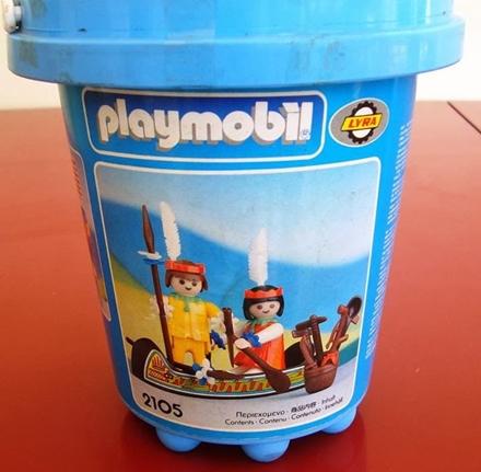 Playmobil 2105-lyr - Indians with Canoe - Box