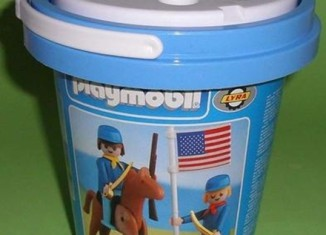 Playmobil - 2114-lyr - US rider & soldier with flag