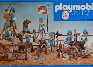 Playmobil - 23.40.8 - V2-trol - 7 union soldiers with cannon and horse