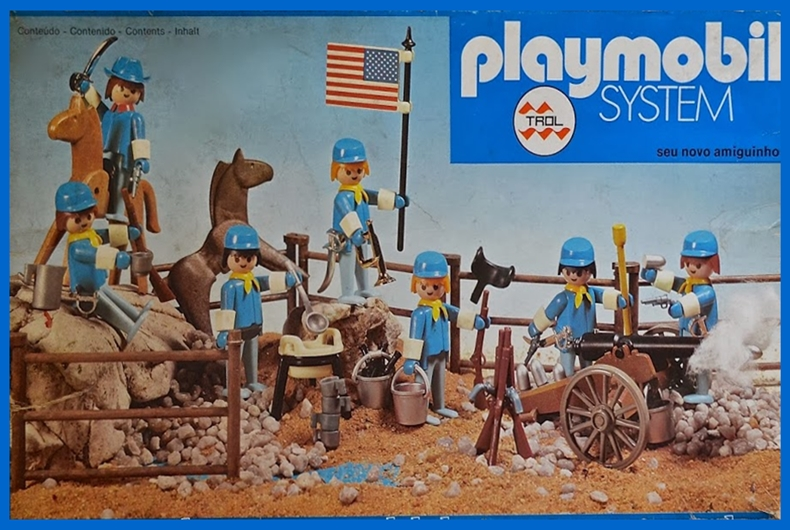 Playmobil 23.40.8 - V2-trol - 7 union soldiers with cannon and horse - Box