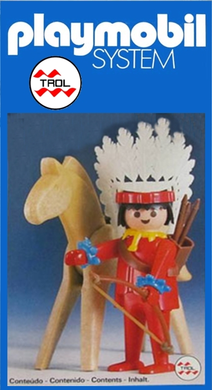 Playmobil 23.35.1 - V2-trol - Indian with Horse - Box