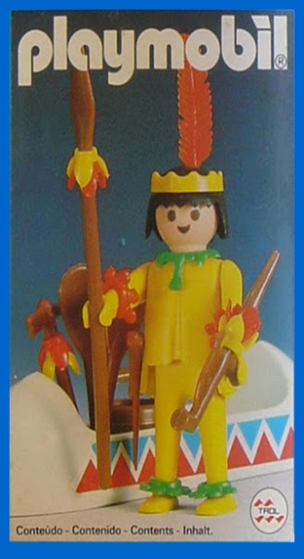 Playmobil 23.35.2 - Indianer mit Kanu - Box