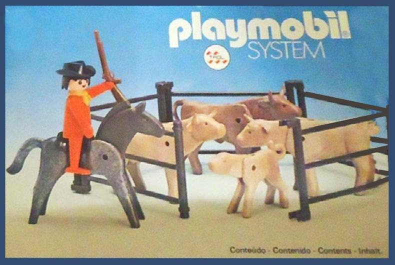 Playmobil 23.75.3-trol - Cowboy with cattle - Box