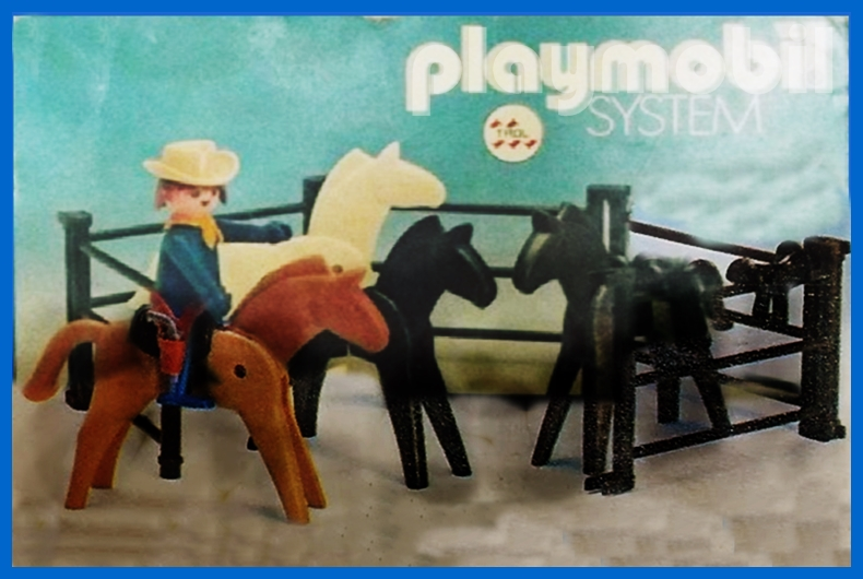 Playmobil 23.75.4-trol - Cowboy with horses - Box