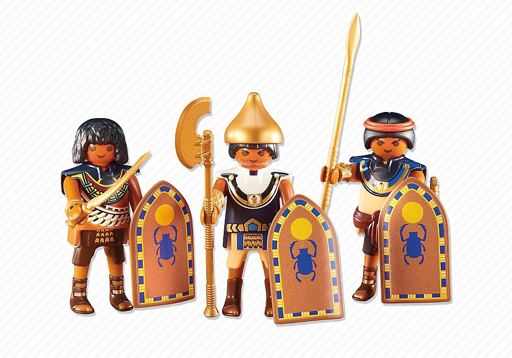 Playmobil set 6488 3 egyptian soldiers klickypedia - Playmobil egyptien ...