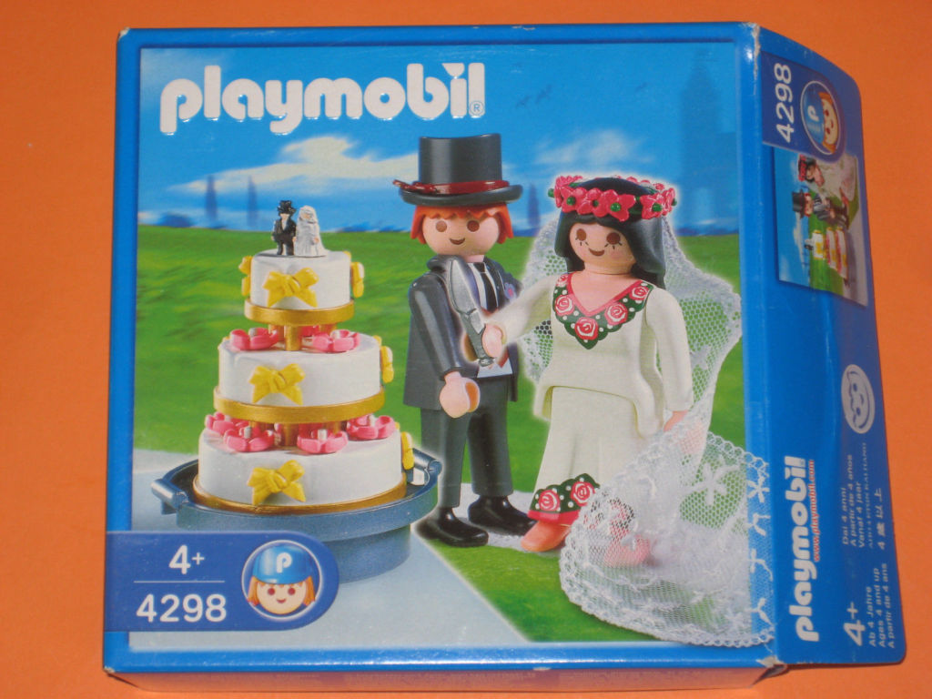 Playmobil 4298 - Bridal Pair and Wedding Cake - Box