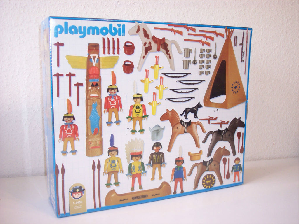 Playmobil 1-3483-ant - Indians Set - Back