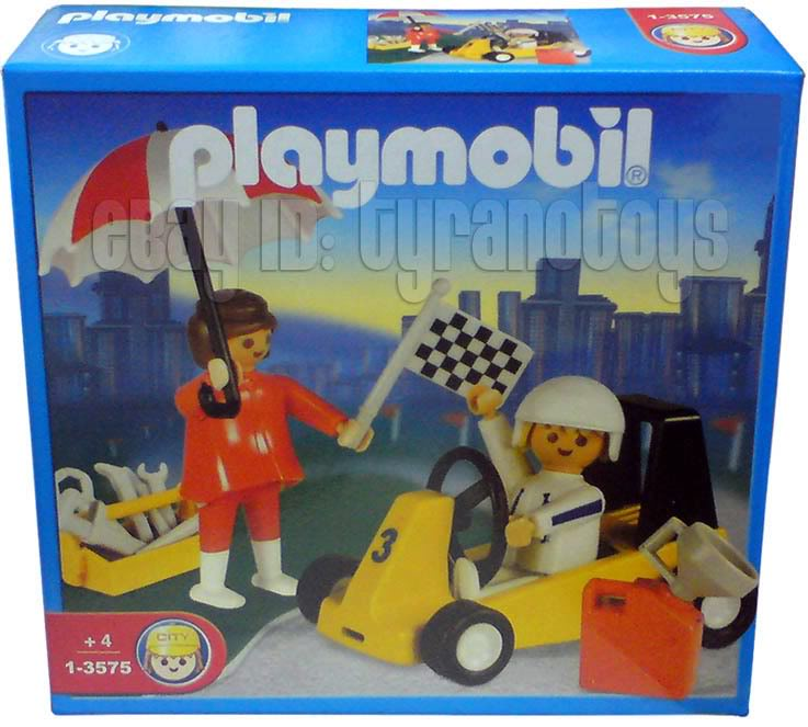 Playmobil 1-3575-ant - Go Kart and Woman - Box