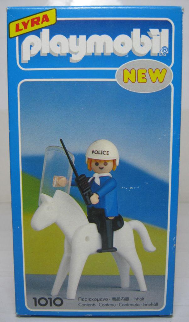 Playmobil 1010-lyr - Policeman with Horse - Box