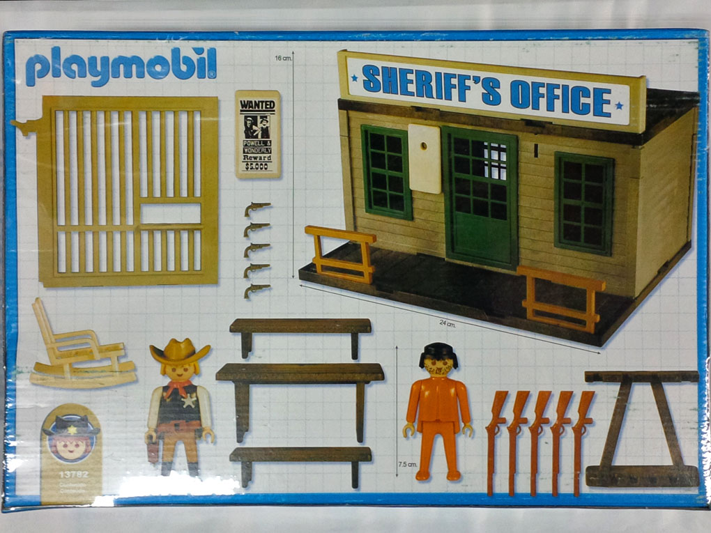 Playmobil 13782-ant - Sheriff's Office - Back