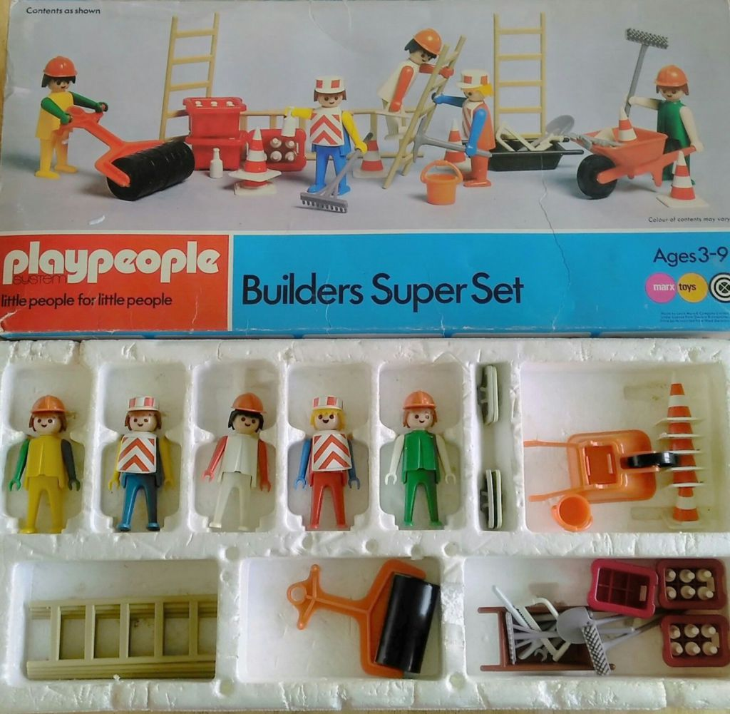 Playmobil 1720v2-pla - Builders Super Set - Back
