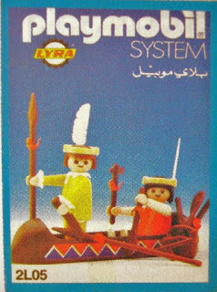 Playmobil 2L05-lyr - Indians with Canoe - Box