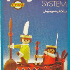 Playmobil - 2L05-lyr - Indians with Canoe