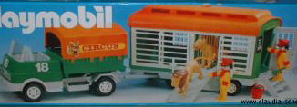 Playmobil - 3129 - Circus Truck And Lion Trailer
