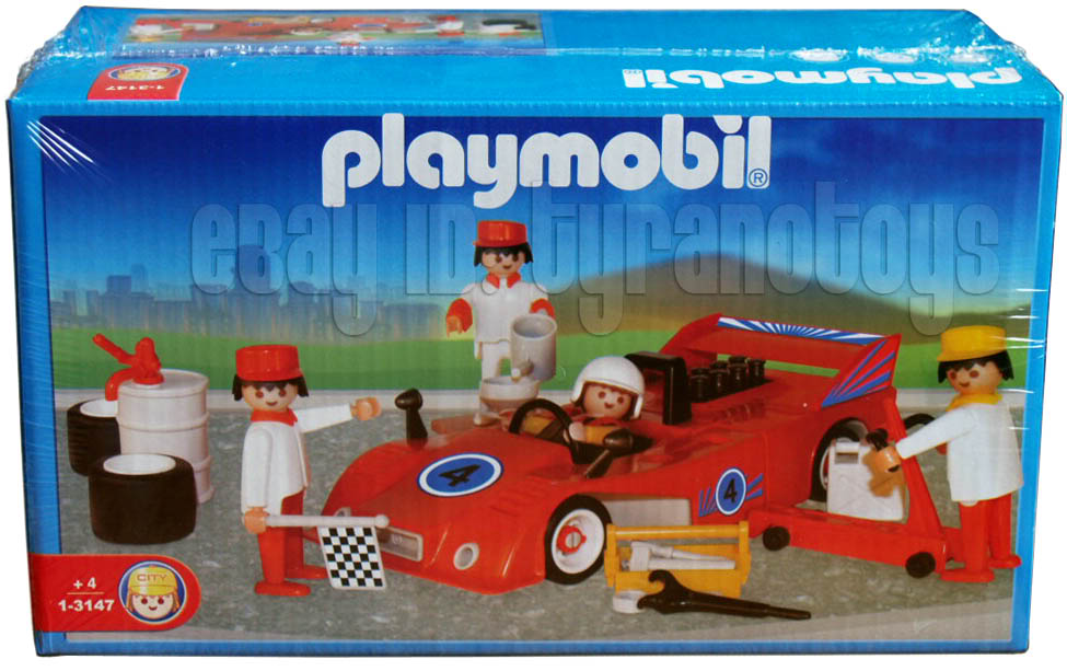 Playmobil 1-3147-ant - Red Racecar and Crew - Box
