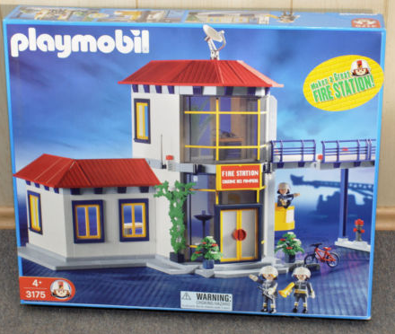Playmobil 3175s2v1 - Firemen / Fire station - Box