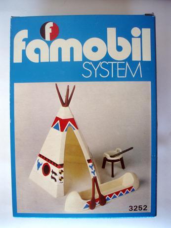 Playmobil 3252v1-fam - Indian Tent - Box