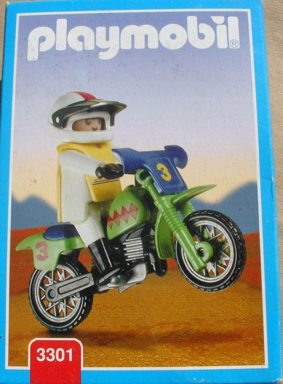 Playmobil 3301v2-ant - Off-Road Motorcycle - Box
