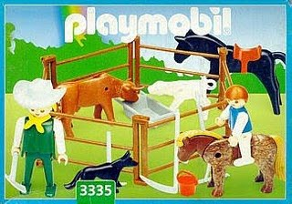Playmobil 3335s2v1-ant - Farmers and Animal Pen - Box