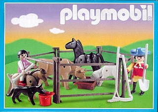 Playmobil 3335s2v2-ant - Farmers and Animal Pen - Box