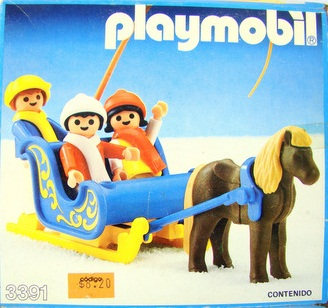 Playmobil 3391-ant - Blue Pony Sleigh - Box
