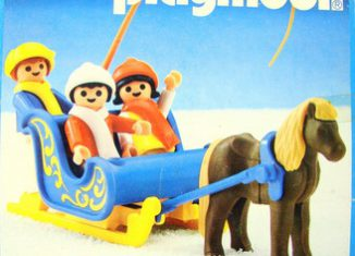Playmobil - 3391-ant - Blue Pony Sleigh