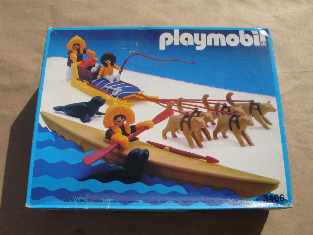 Playmobil 3466-ant - Kayak And Dog Sled - Box