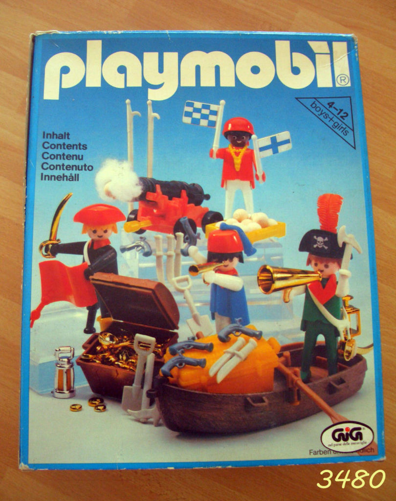 Playmobil 3480-ita - 4 pirates - Box