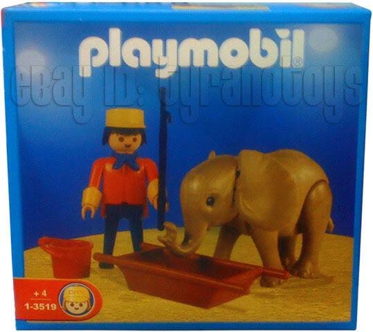 Playmobil 1-3519-ant - Baby Elephant and Handler - Box
