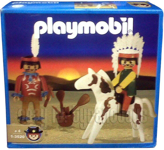 Playmobil 1-3520-ant - Two Indians and Horse - Box