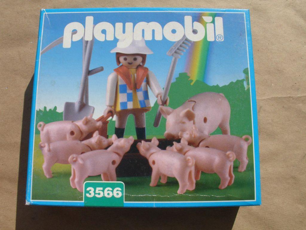 Playmobil 3566-ant - Farmer Feeding Pigs - Box