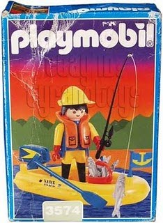 Playmobil 3574-ant - Fisherman in boat - Box