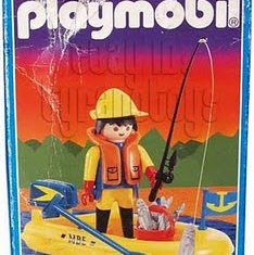 Playmobil - 3574-ant - Fisherman in boat