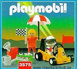Playmobil 3575v1-ant - Go Kart and Woman - Box