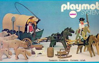 Playmobil - 3752-ant - Cattle Herders and Covered Wagon