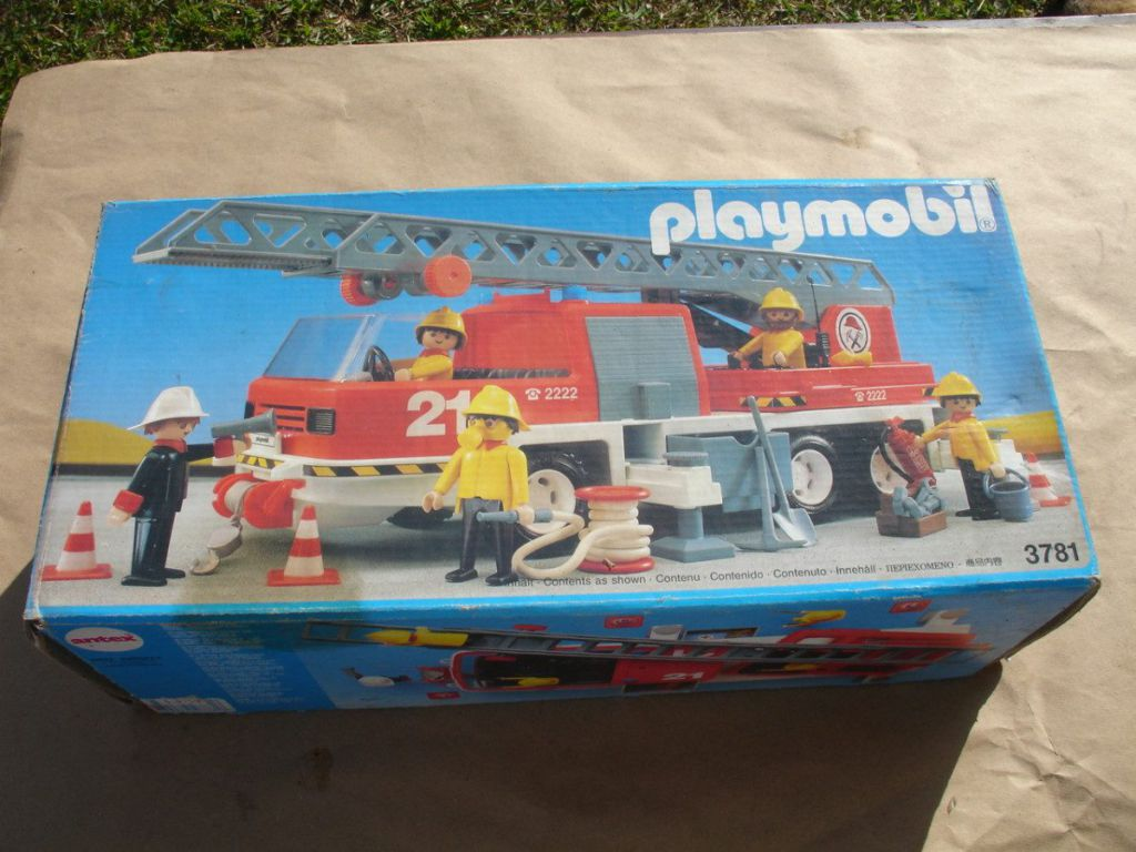 Playmobil 3781-ant - Hook and Ladder - Box